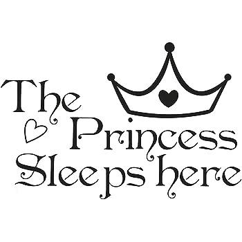 Topgrowth Adesivi Murali Bambini Scritte Adesive Per pareti The Princess Sleeps Here Stickers Murali