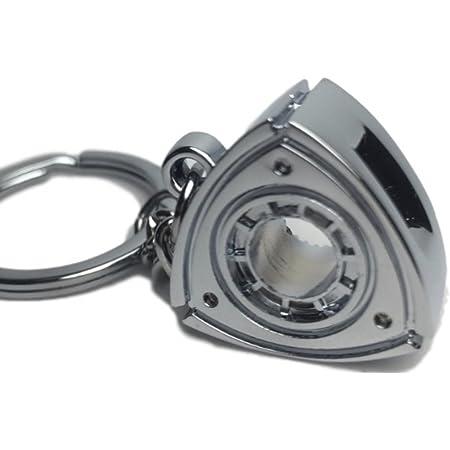 ロータリー エンジン キーホルダー オリジナル ケース ギフト プレゼント ボックス 付 (シルバー)