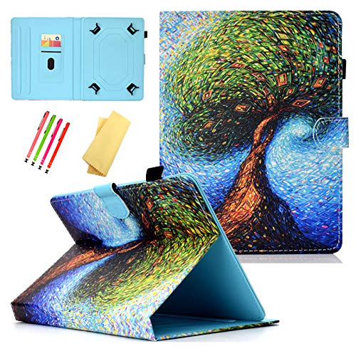 Dteck - Funda Universal para Apple iPad, Samsung Galaxy, Huawei, ASUS, DELL, HP, LG G Pad, KOBO, RCA, Google, Prestige Pro-Hisense y más Andriod Windows Tablet