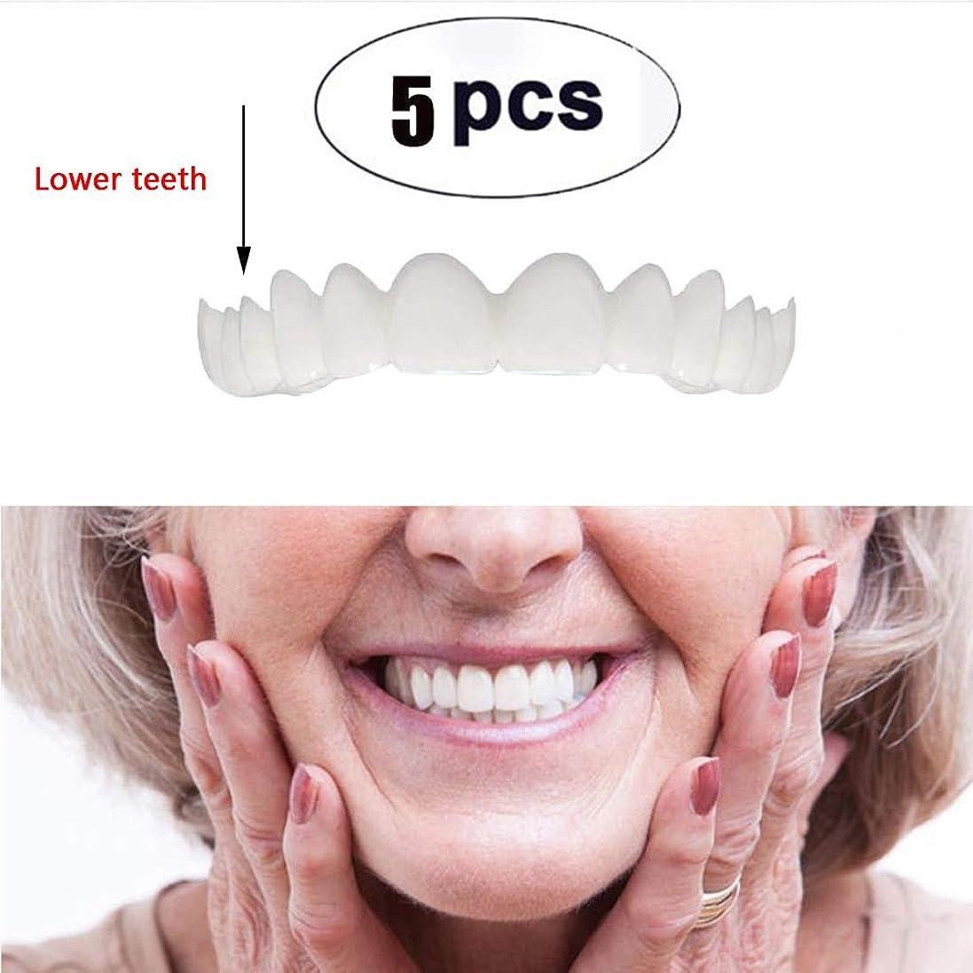 医学鉱夫チャップ5本下歯仮化粧品歯模擬ブレース歯ホワイトニング