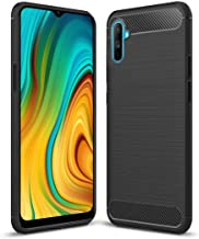 JGD PRODUCTS Carbon Fiber Armor Drop Tested Shock Proof TPU Back Case Cover for Realme C3