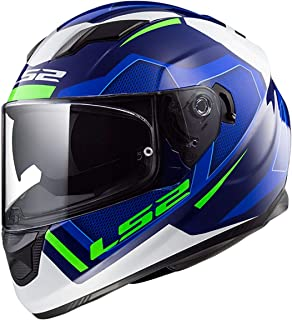 LS2 Helmets - FF320 Stream Evo - Axis - Matt Blue White - Dual Visor Full Face Helmet - (Large - 580 MM)