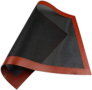 Feuille de tapis de cuisson en silicone micro-perforé - Tapis de plat de cuisson pour four à micro-ondes, tapis en silicon...
