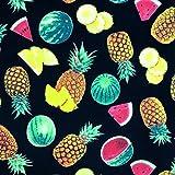Tropical Fruits schwarz 100% High Qualität Reine Baumwolle
