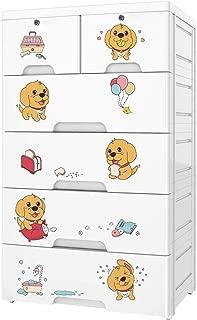 Nafenai Plastic 6 Drawers Dresser,Storage Organizer for Clothes/Toys,Bedroom,Playroom,Large,White