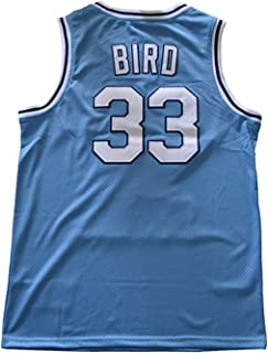Men's Indiana State Collegiate Athletic #33 Retro Embroidered Basketball Jersey-Blue