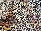 LushFabric Baumwollstoff Panther Leopardenmuster,