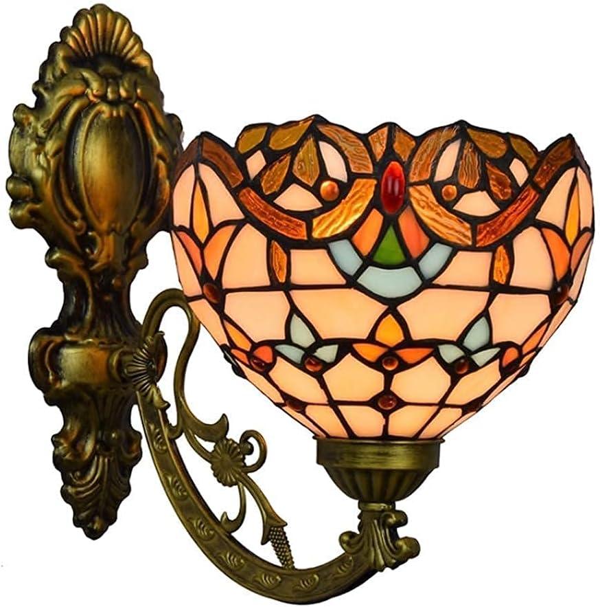 BGHDIDDDDD Wall Lamp discount Bracket Style Denver Mall Glas Stained Light