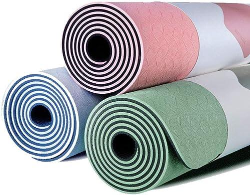 Tapis de fitness pour hommes et femmes débutants épaississement élargi tapis de sport antidérapant Tapis de sol régional (Couleur   Rose)