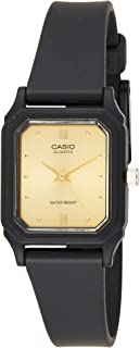 Casio Women's Gold Dial Resin Band Watch - Lq-142E-9A, Analog Display