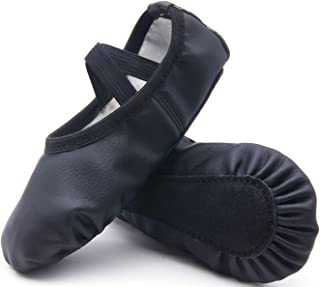 Leather Ballet Shoes for Girls No Drawstring Ballet Slippers for Toddler Dance Shoe
