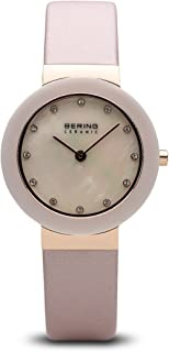 BERING Time 11429-664 Women Ceramic Collection Watch with Satin Strap and scratch resistent sapphire crystal. Designed in Denmark