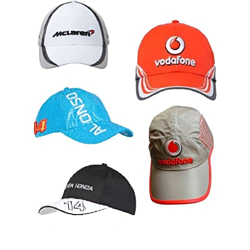 5 x 1 de Fórmula Uno McLaren botón Alonso Magnussen Caps