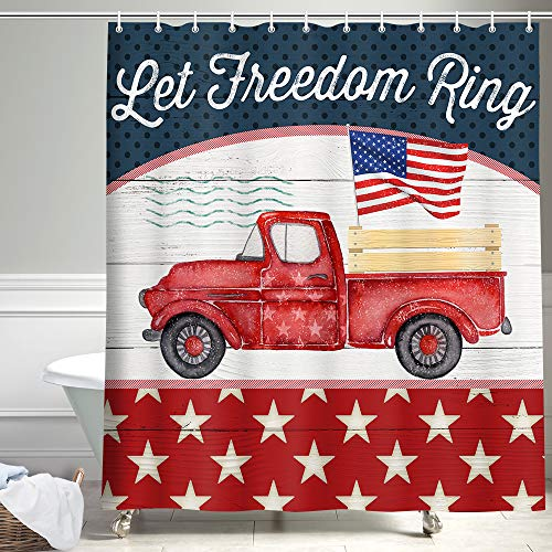 American Truck Shower Curtain