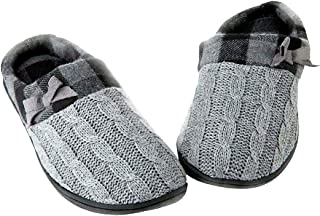 Toasties Women's Sweater Knit Memory Foam Slippers Grey