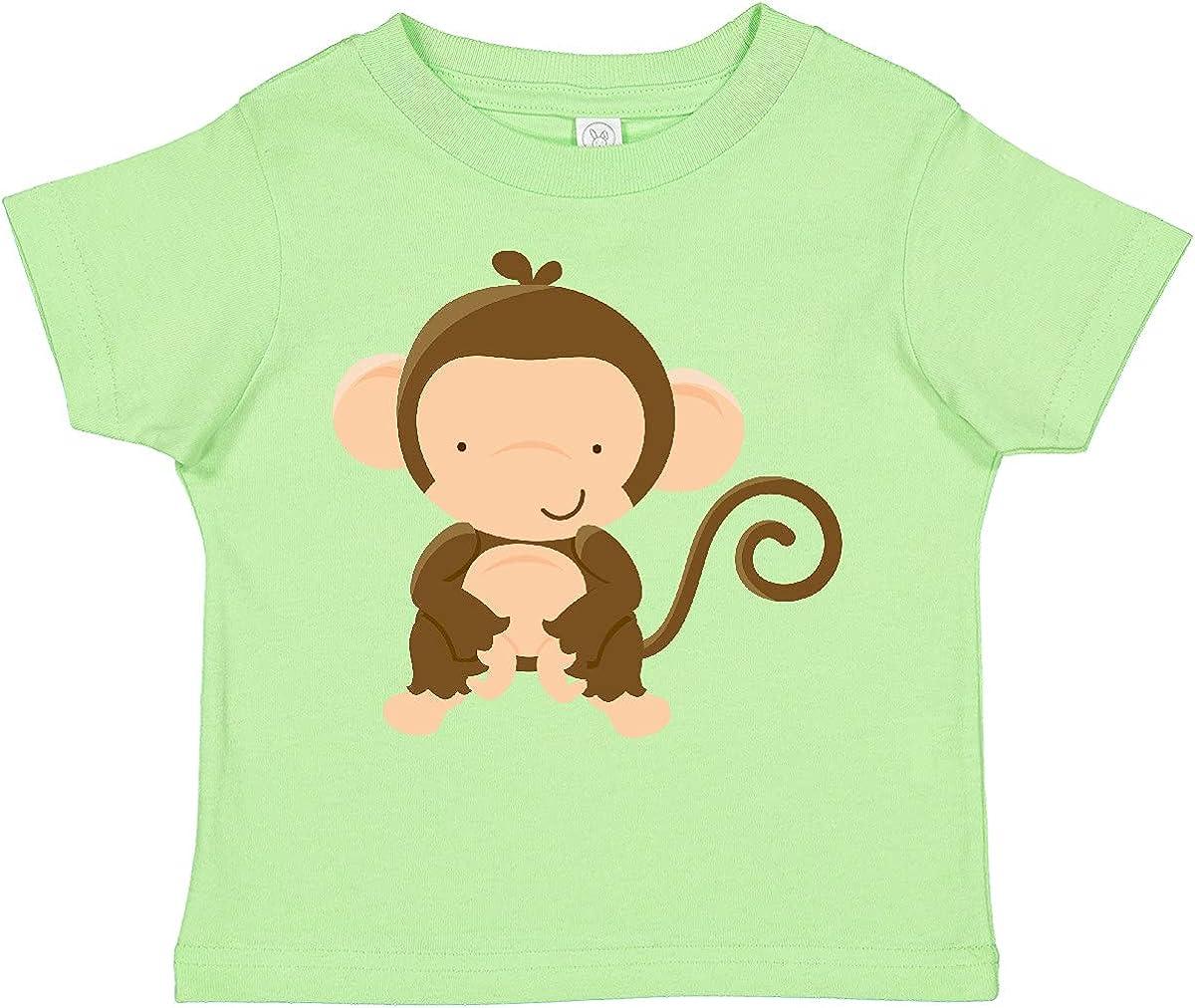 inktastic Happy Monkey Toddler T-Shirt