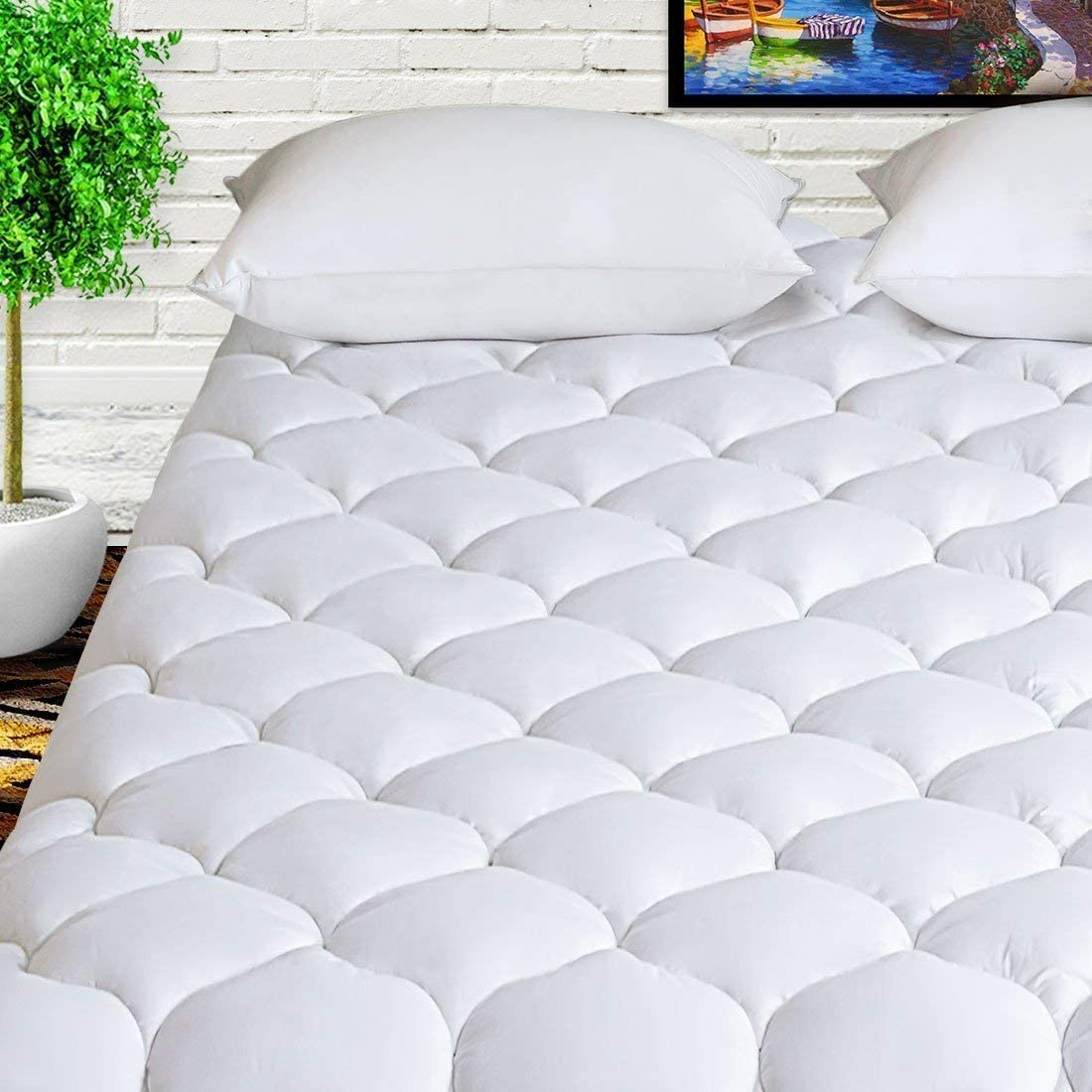 HARNY Mattress Pad Cover Olympic Queen Dedication Pillow Cotton 400TC Size Limited price