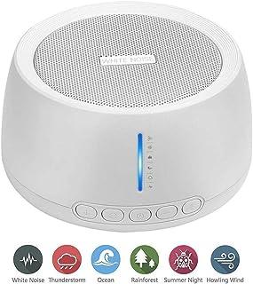 7 LED th/érapie sonore Homecube avec 29 sons sans boucle Machine /à bruit blanc sommeil minuterie pour b/éb/é//enfants//adultes rechargeable