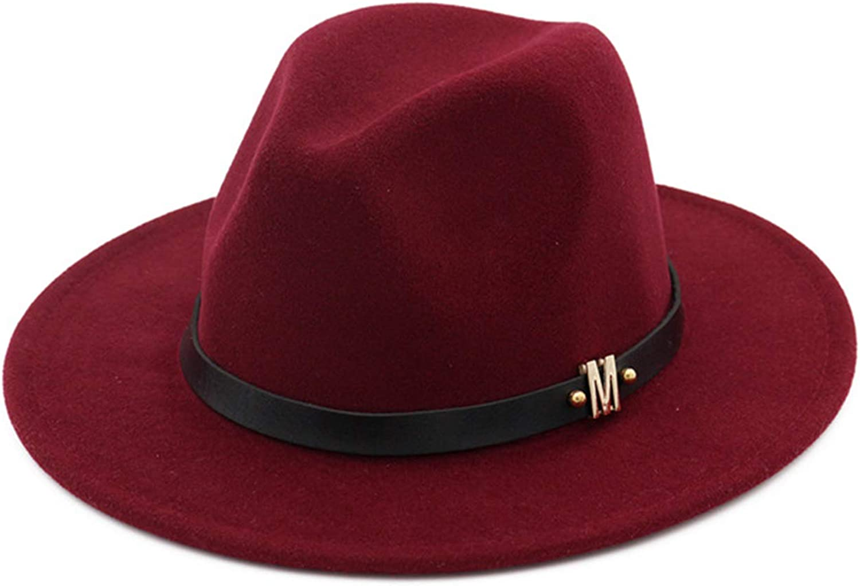 Cowgirl Hat, Fedora Hats for Women,Ladies Hat 100% Wool Retro Sun Hat.