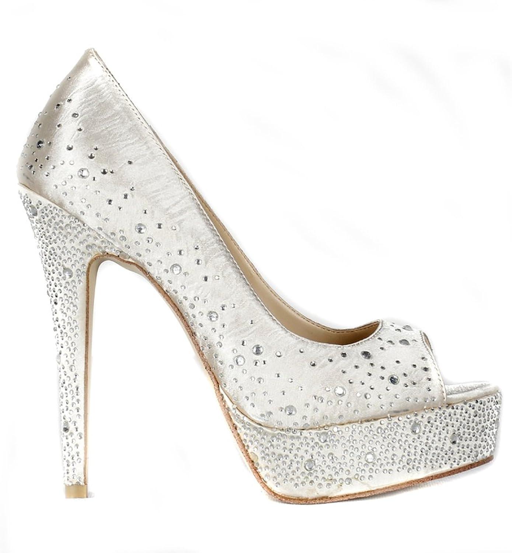Lacitena New Womens Ladies Platform High Heel Peeptoe Diamond shoes