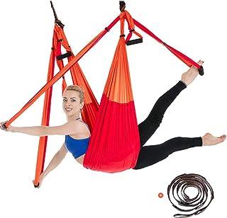 comprar comparacion besbomig 6 Yardas Descompresión Hamaca Yoga Forma Cuerpo Antigravedad Inversión Ejercicios - Yoga Volador Oscilación Inter...