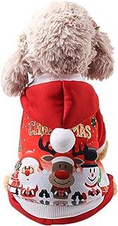 Fossrn Disfraz Navidad Perro Ropa Mascotas Sudaderas con Capucha para Cachorros Chihuahua Yorkshire