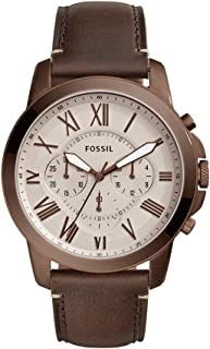 Fossil Men's Grant Analog Quartz/Chronograph Brown Watch, (FS5344)
