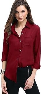 cómo hacer pedidos elige auténtico comprar nuevo Amazon.es: camisas color vino - S / Mujer: Ropa
