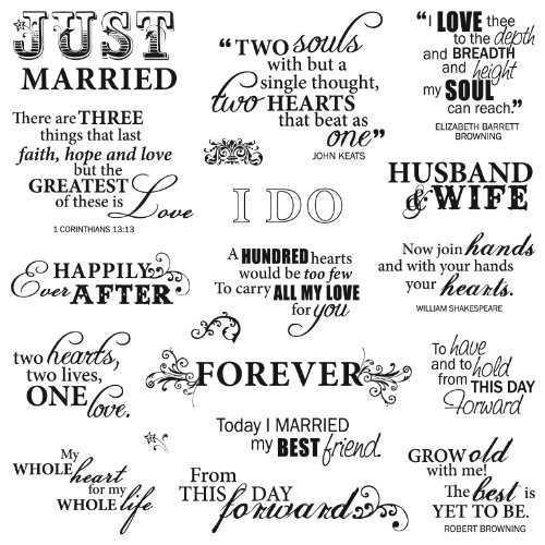 Fiskars 8x8 Inch Just Married Clear Stamps