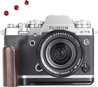 WEPOTO XT3メタルブラケットカメラ木製ハンドグリップハンドルL-ブラケット富士X-T3に適用される