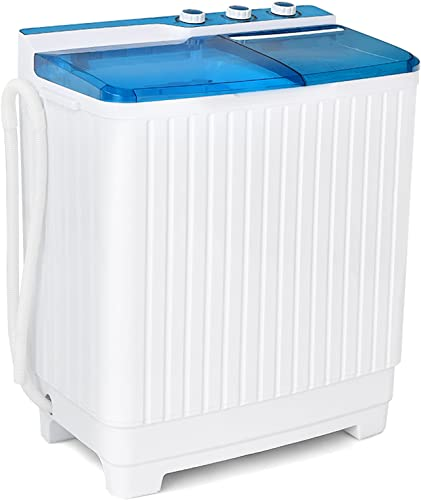popular Giantex Portable Washing Machine Semi-Automatic, Twin Tub Washer and Dryer Combo, 28.5lbs (20lbs Washing and lowest 8.5lbs Spinning), Compact Mini Laundry Washer new arrival for Dorm Apartment and RV's (Blue & White) outlet sale
