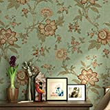 LianLe Papier Peint Murale Rétro Fleurs Papier pour Décoration de Maison Salon...