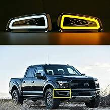 MotorFansClub Daytime Running Lights Fog Lamp LED DRL for Ford F150 Raptor SVT 2009-2015 with Turn Signal