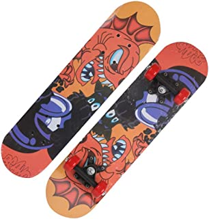 Mini Complete Skateboard-Beginner Skateboard 23.6 Inch Abstract Anime Submarine Monster Pattern Children Skateboard Pop Skateboard Cruiser Suitable for Children Over 3 Years Old