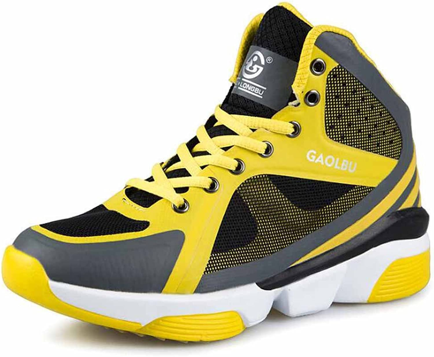 GLSHI Men Breathable Basketball shoes Autumn High Top Outdoor Sports shoes Size 36-45