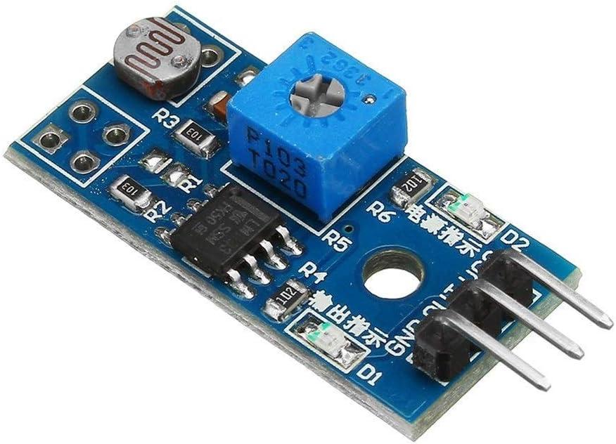 Yadianna 5V 3.3V 3 Pin Photosensitive Sensor Light 4 years warranty Sensin Module half