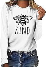 haoricu Women's Long Sleeve Blouse Ladies Round Neck Cute Animal Print Shirt Casual Plus Size T Shirt Tops
