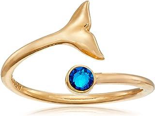 Alex and Ani 环绕式,鲸鱼尾,可堆叠戒指,尺寸 5-7