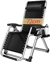 High-quality recliner Deckchair Sun Lounger Oversize Folding Zero Gravity Chairs, Sun Lounger for Beach Patio Garden Camping Recliner Outdoor Portable Black Home Lounge Chair Supports 200kg
