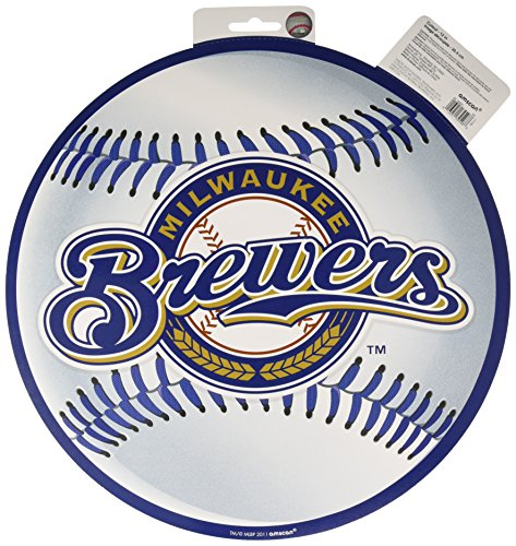 milwaukee brewers amscan Milwaukee Brewers Major League Baseball Collection Cutout, Party Decoration, 6 Ct.