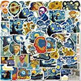 40 Pack Artist Famous Painting Stickers Set Random Sticker Decals for Water Bottle Laptop Cellphone Bicycle Motorcycle Car Bumper Luggage Travel Case (Artist Famous Painting)