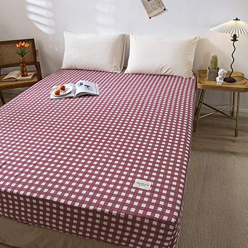 FJMLAY Sábanas ajustablesperfecto para el colchón,Sábanas Ajustables de algodón, Protector Antideslizante para Alfombrilla para Dormitorio Apartment-Q_120cmx200cm