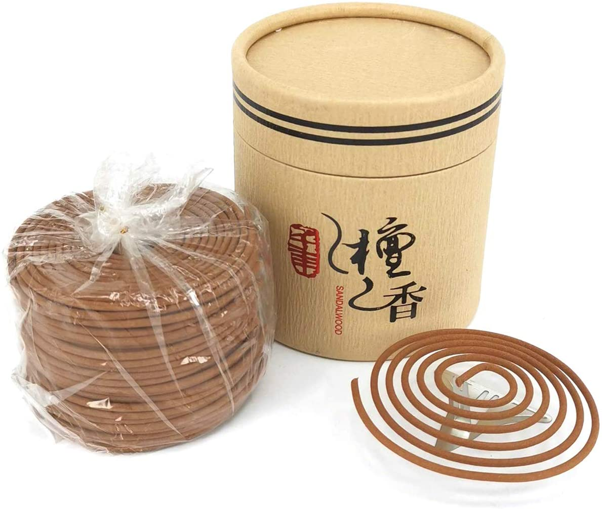 Sandalwood OFFicial site Coils Incense Natural Ranking TOP4 48 Pieces Holder Bu for