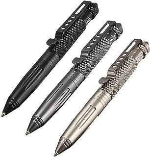 Tungsten Steel Tactical Pen for Glass Breaker and Self-defense Mutifunctional Emergent Tool (Aluminum,Black)