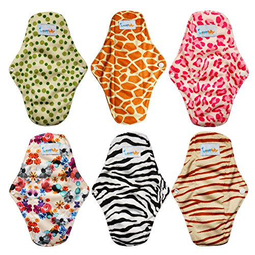 Love My Antibacterial Bamboo Fiber Mama Cloth/Menstrual Pads/Reusable/Panty Liners - 6pcs Pack(LM1)