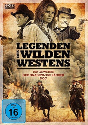 Legenden des Wilden Westens: 100 Gewehre / Der gnadenlose Rächer / Doc [3 DVDs]