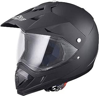 AHR DOT Full Face Motorcycle Helmet Dirt Bike Motocross PC Visor Lightweight ABS Motorbike Touring Sports Racing S