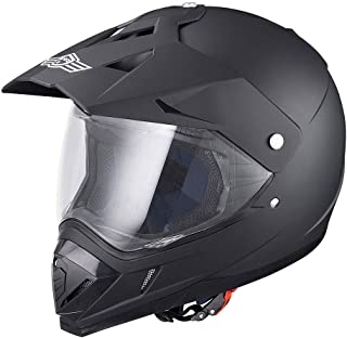AHR DOT Full Face Motorcycle Helmet Dirt Bike Motocross PC Visor Lightweight ABS Motorbike Touring Sports Racing XL