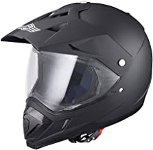 AHR DOT Full Face Motorcycle Helmet Dirt Bike Motocross PC Visor Lightweight ABS Motorbike Touring Sports Racing XL