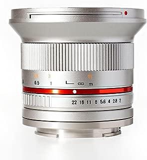 Rokinon RK12M-MFT-SIL 12mm F2.0 Ultra Wide Angle Lens for Olympus/Panasonic Micro 4/3 Cameras